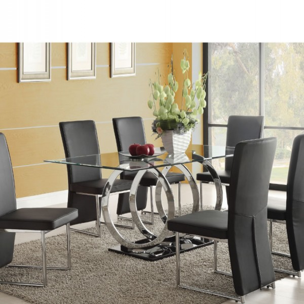 Athens Clear Glass Dining Table And Chairs With 4 Or 6