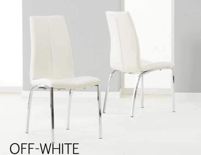 Earlham Large White High Gloss Dining Table and Chairs
