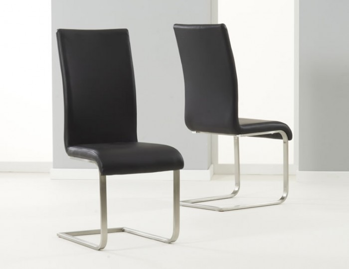 Monterey Black Faux Leather Dining Chairs