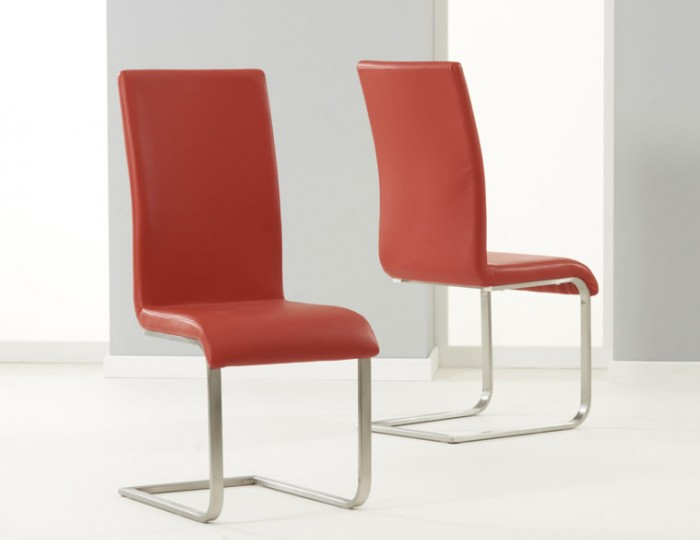 Monterey Red Faux Leather Dining Chairs