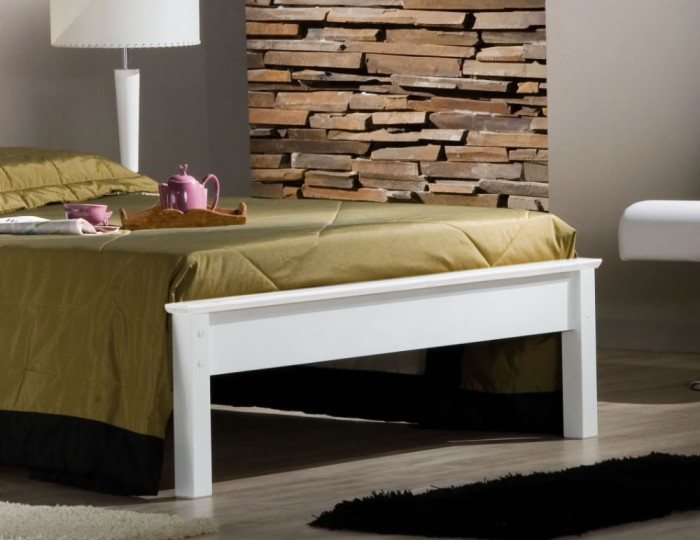 Kennedy Ivory Wooden Bed Frame