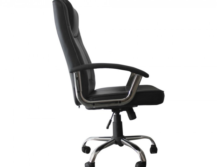 Breckenridge Black Faux Leather Office Chair