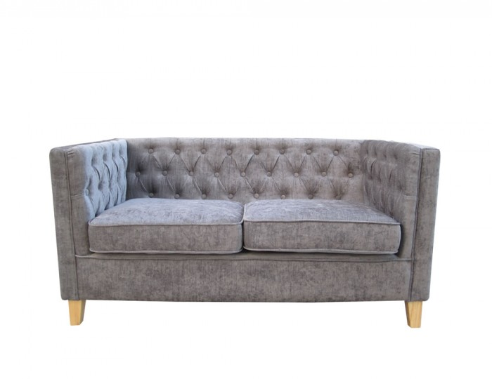 Barnaby Slate Grey 2 Seater Upholstered Sofa