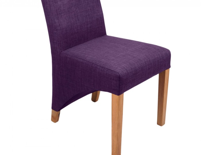 Tenterden Plum Linen Fabric Dining Chairs