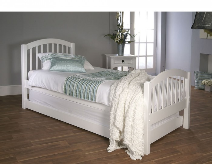 Diane White Wooden Guest Bed