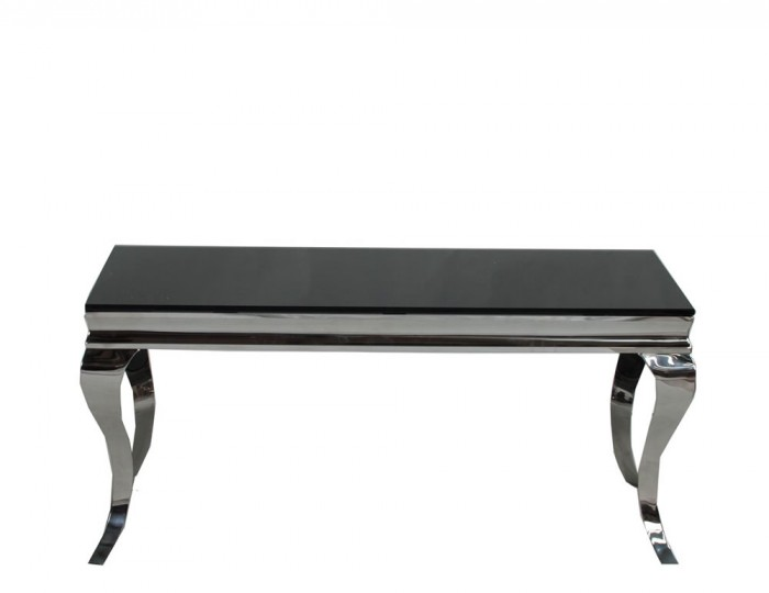Napoleon black glass coffee table Black coffee table with glass