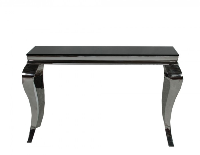 Napoleon Black Glass Console Table