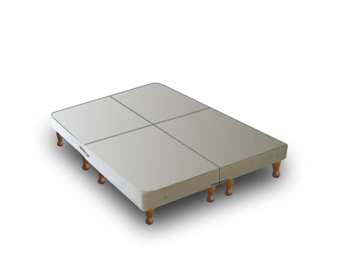Warwick divan base only on legs 4 parts Divan bed bases