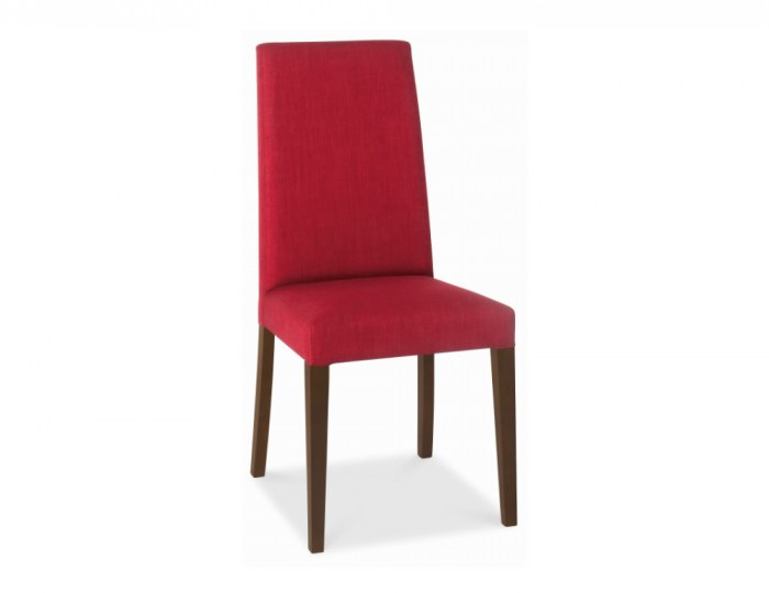 Miles walnut and red upholstered dining chair - Red upholstered dining chairs ...