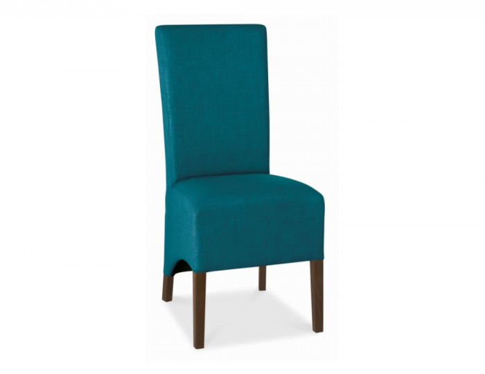 Nina Walnut And Teal Upholstered Dining Chair