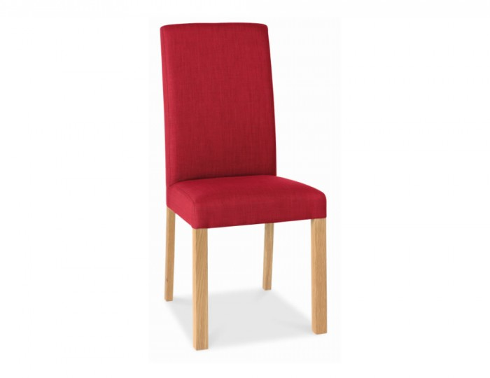 Parker oak and red upholstered dining chair for Red upholstered dining chair