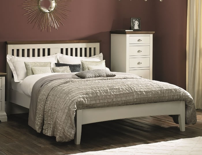 Hampstead Soft Grey and Walnut Bedstead
