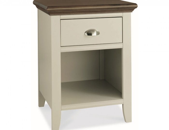Hampstead Soft Grey and Walnut Nightstand