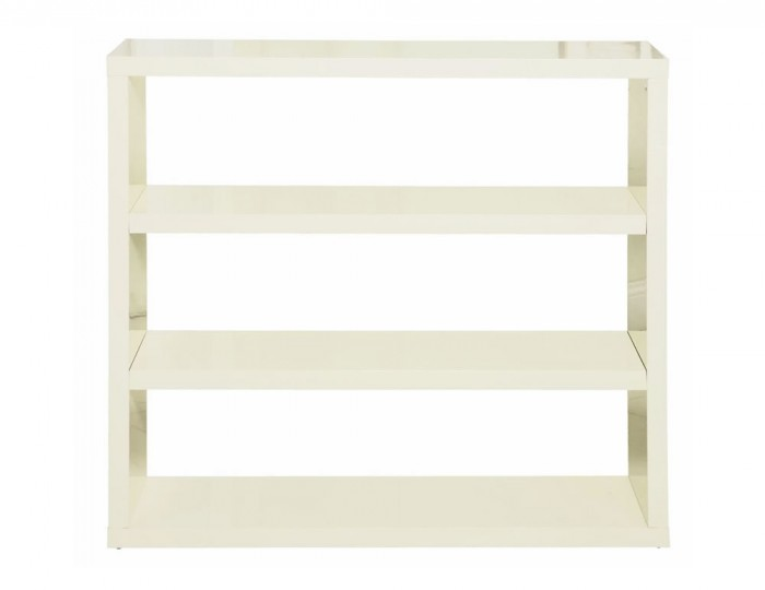 Puro Cream High Gloss Bookcase