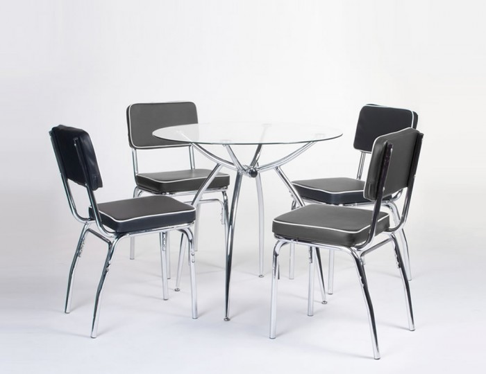 Aspen Glass Kitchen Table and Chairs