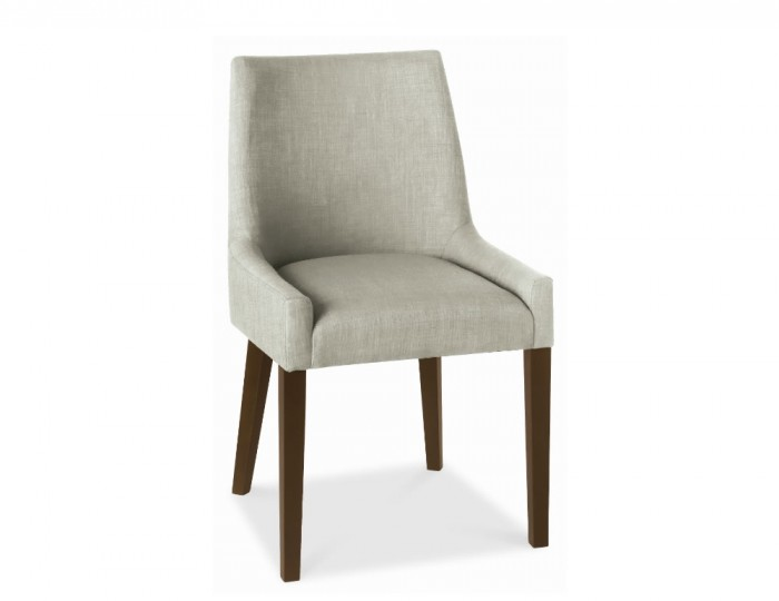 Ella Walnut And Linen Upholstered Dining Chairs