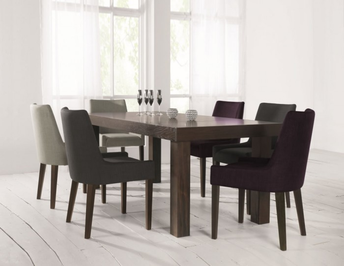 Ella Walnut Large Extending Dining Set