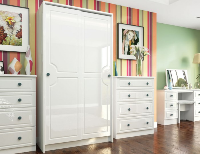 Abberley White Gloss Sliding Wardrobe