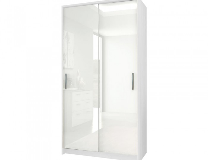queen white high gloss sliding wardrobe - White Wardrobe