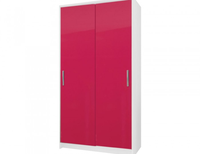 Kati Pink Girls Sliding Wardrobe