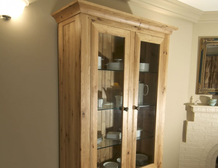 Roche Solid Oak Display Cabinet