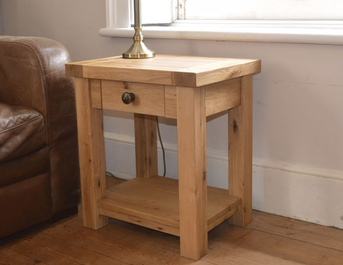 Roche Solid Oak Lamp Table