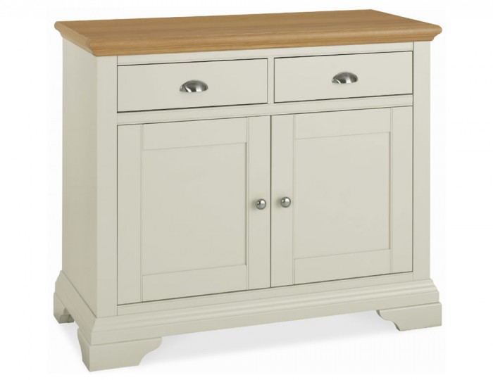 Hampstead Soft Grey and Oak Small Sideboard