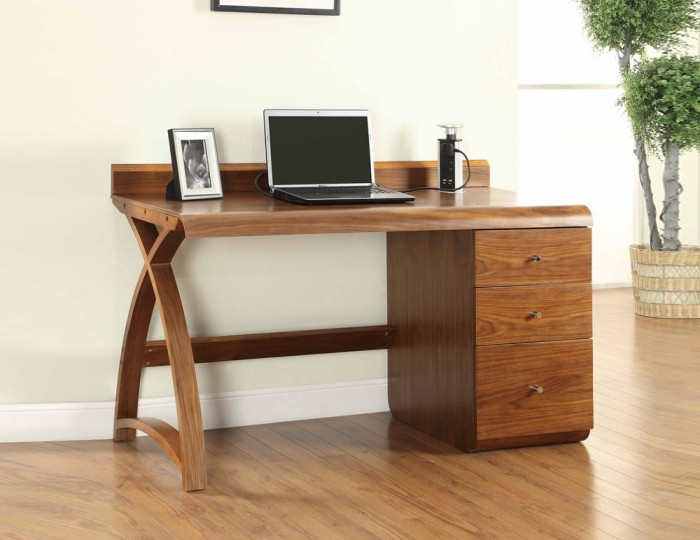 Emmanuel Walnut Large Pedestal Desk