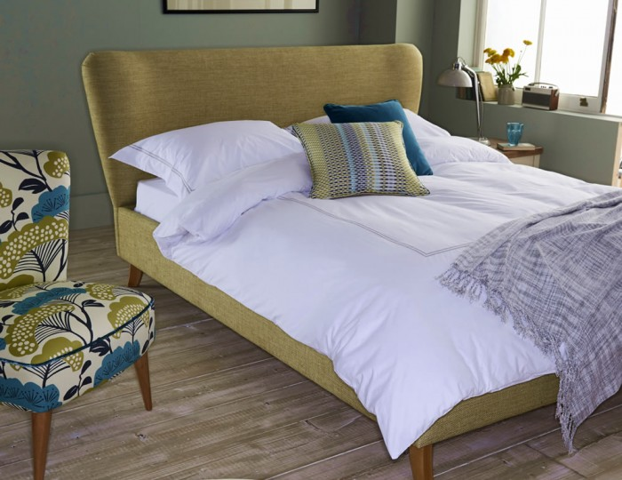Carnaby Upholstered Retro Bed Frame