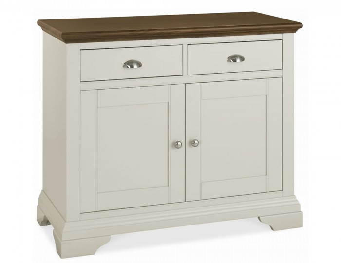 Hampstead Soft Grey and Walnut Small Sideboard