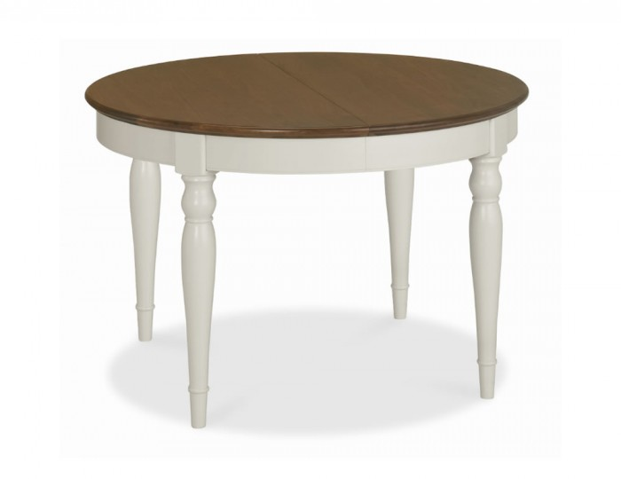 Hampstead Soft Grey and Walnut Round Extending Dining Table : 108321 from www.franceshunt.co.uk size 700 x 540 jpeg 23kB
