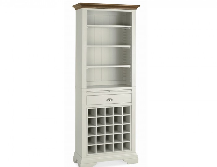 Hampstead Soft Grey and Walnut Wine Unit