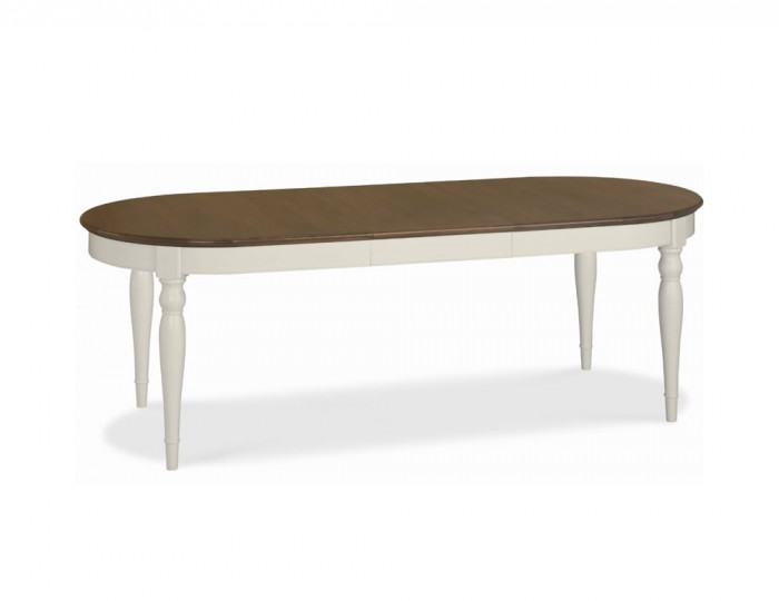 Hampstead Soft Grey and Walnut Oval Extending Dining Table  : 108384 from www.franceshunt.co.uk size 700 x 540 jpeg 18kB