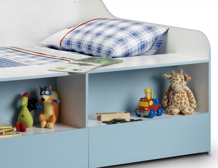 Noah Kids Blue Low Sleeper Bed