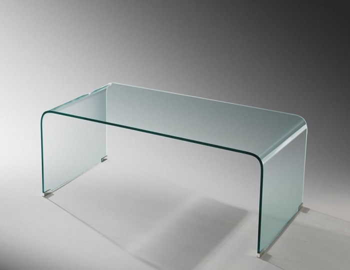 Packard Clear Glass Coffee Table