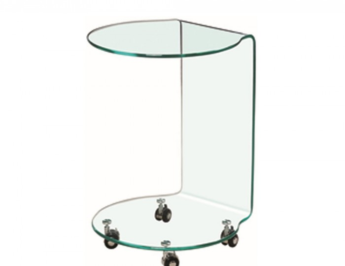 Packard Clear Glass Lamp Table