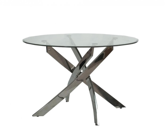 Linsdale Clear Glass Round Dining Table