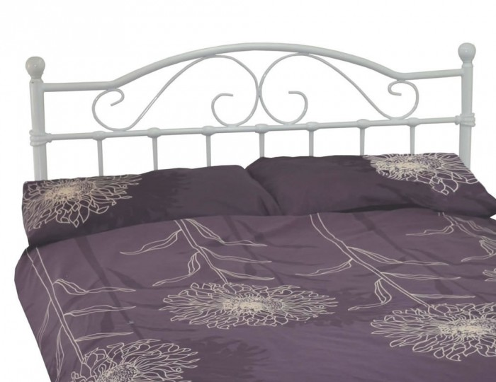 Exmoor White Metal Bed Frame