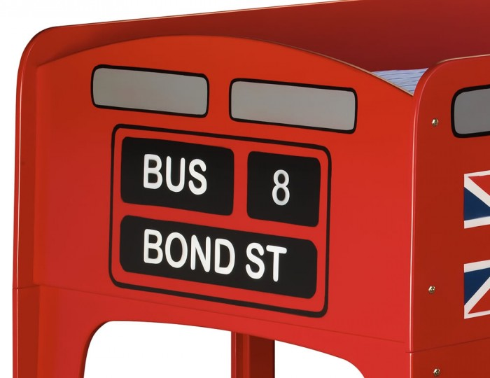 Bond Street Red Bus Kids Bunk Bed