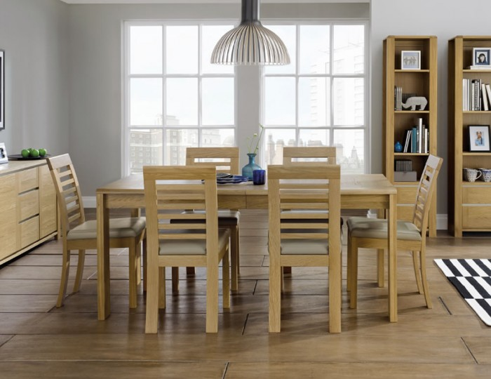 Petra Oak 175cm Extending Dining Table and Chairs