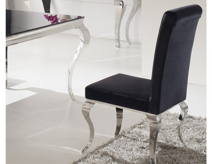 Napoleon Black Velvet Dining Chairs