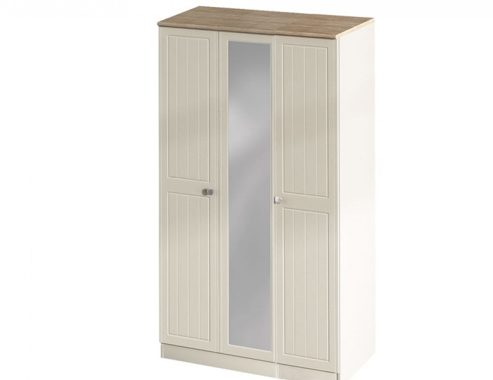 Levante Two-Tone 3 Door Wardrobe with Mirror