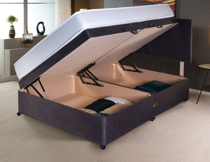 Franca Upholstered Ottoman Side Lift Bed