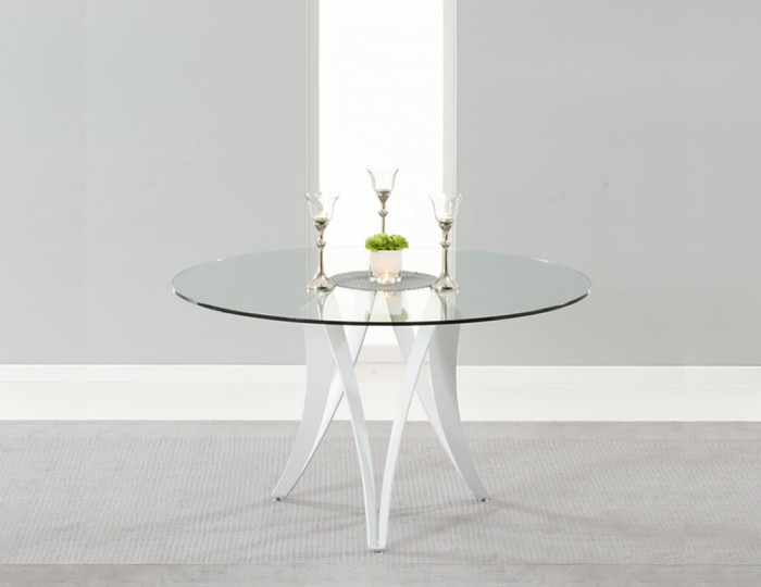 Clyde Round Glass Dining Table