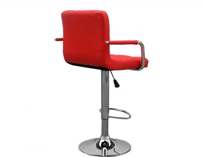 Clifford Red Leather Match Bar Stool