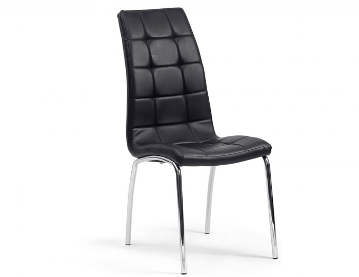 Simone Black Faux Leather Dining Chairs