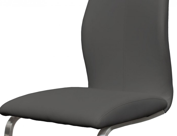 Goldman Grey Faux Leather Dining Chairs