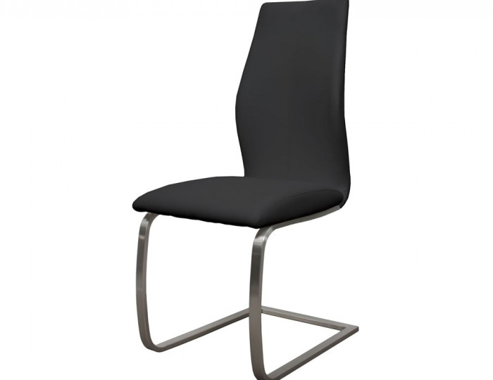 Goldman Black Faux Leather Dining Chairs