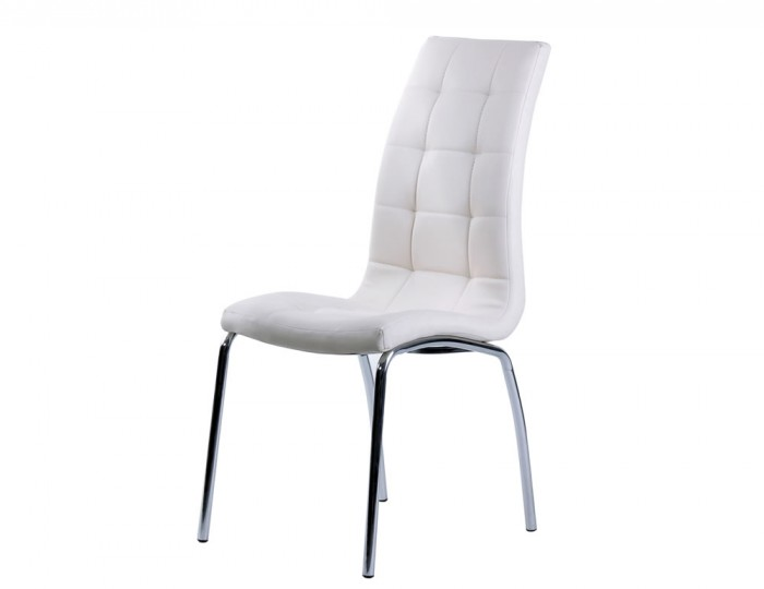 Simone White Faux Leather Dining Chairs