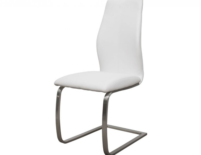 Goldman White Faux Leather Dining Chairs